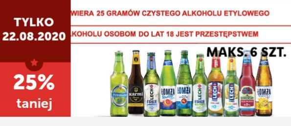 Piwa bezalkoholowe -25% Lidl