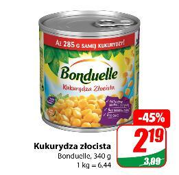 Kukurydza złocista Bonduelle 340g