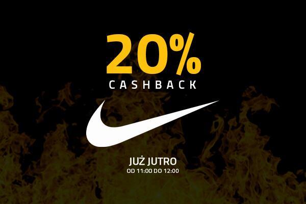 Cashback 20% w sklepie internetowym Nike od Planet Plus - tylko dzis od 11:00-12:00