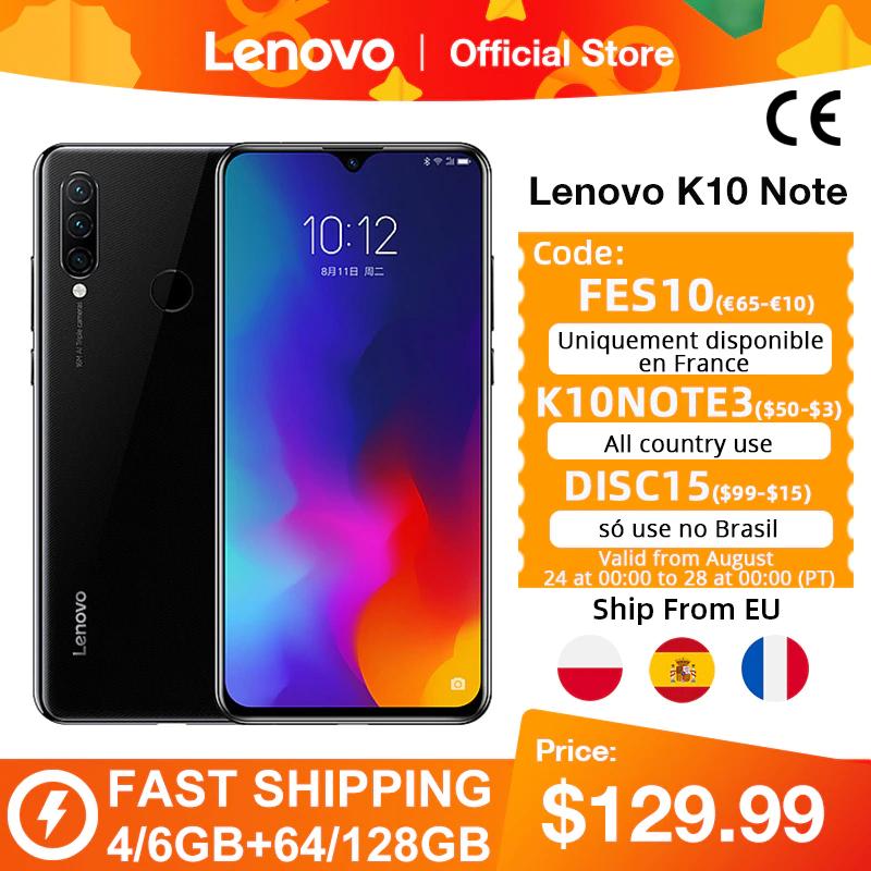 Smartfon Lenovo K10 Note (Z6 Lite) 4/64 GB z wysyłką z Polski @AliExpress
