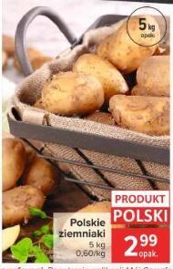 Ziemniaki 5 kg 2,99 zł   Winogrona jasne 4,49 zł/kg   Śliwki 1,99 zł/kg   Kukurydza 4,99 zł 3szt./opak.   Brokuł 2,99 zł/szt. @Carrefour