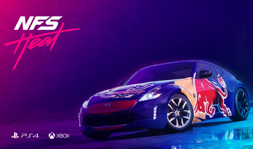 Darmowy samochód Red Bull NISSAN 370Z dla posiadaczy gry Need for Speed: Heat @ Xbox One/PS4