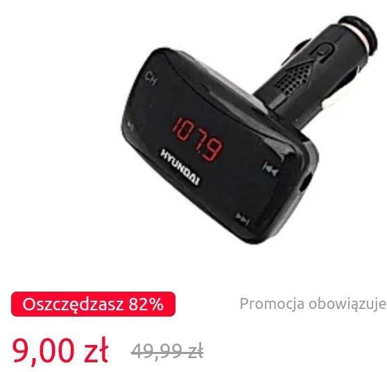 Transmiter samochodowy FM HYUNDAI FMT 193 Z pilotem + inne promocje do -82% - Carrefour