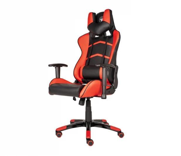 Czarno-czerwony fotel dla gracza Silver monkey smg400