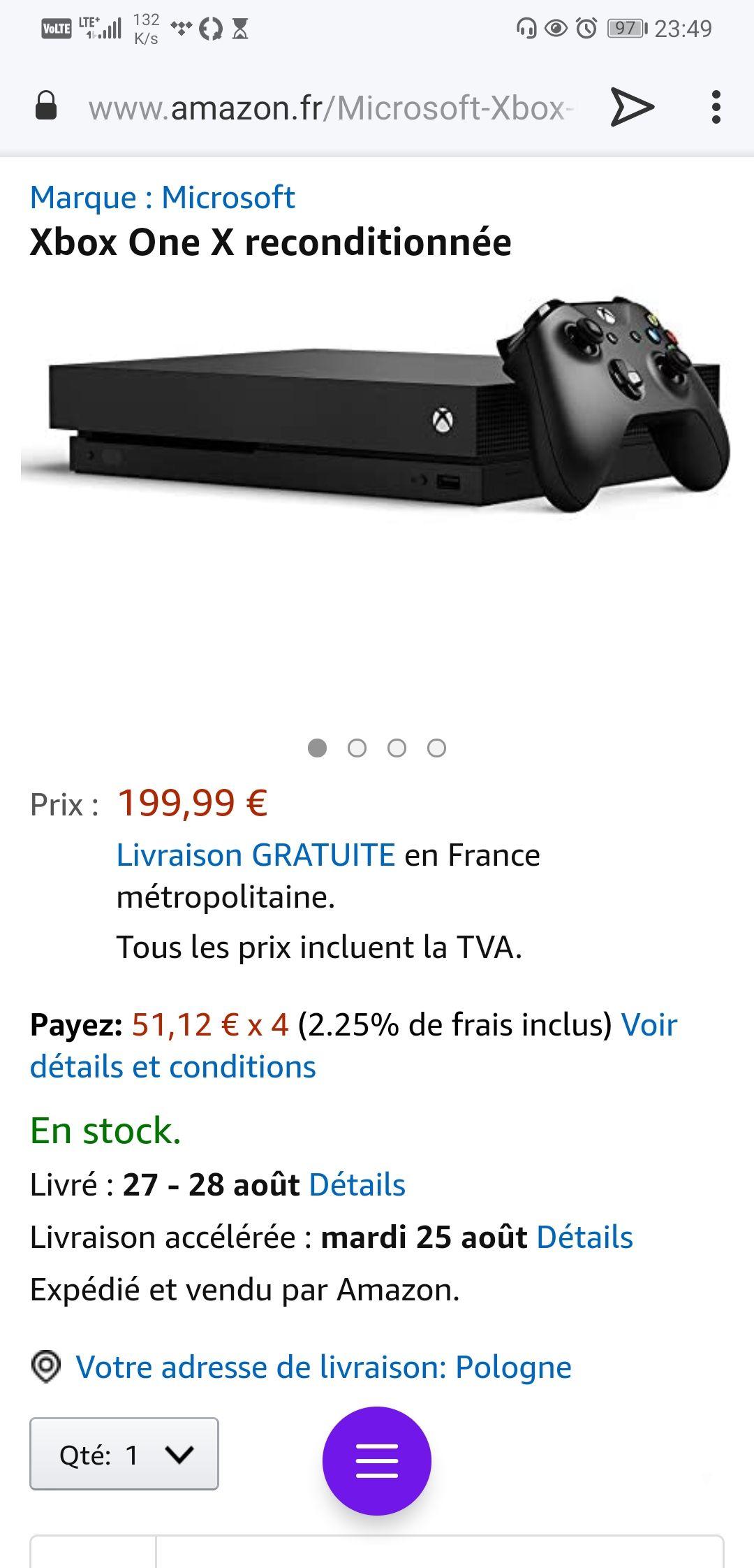 Xbox one x -50% z amazona - €212,77