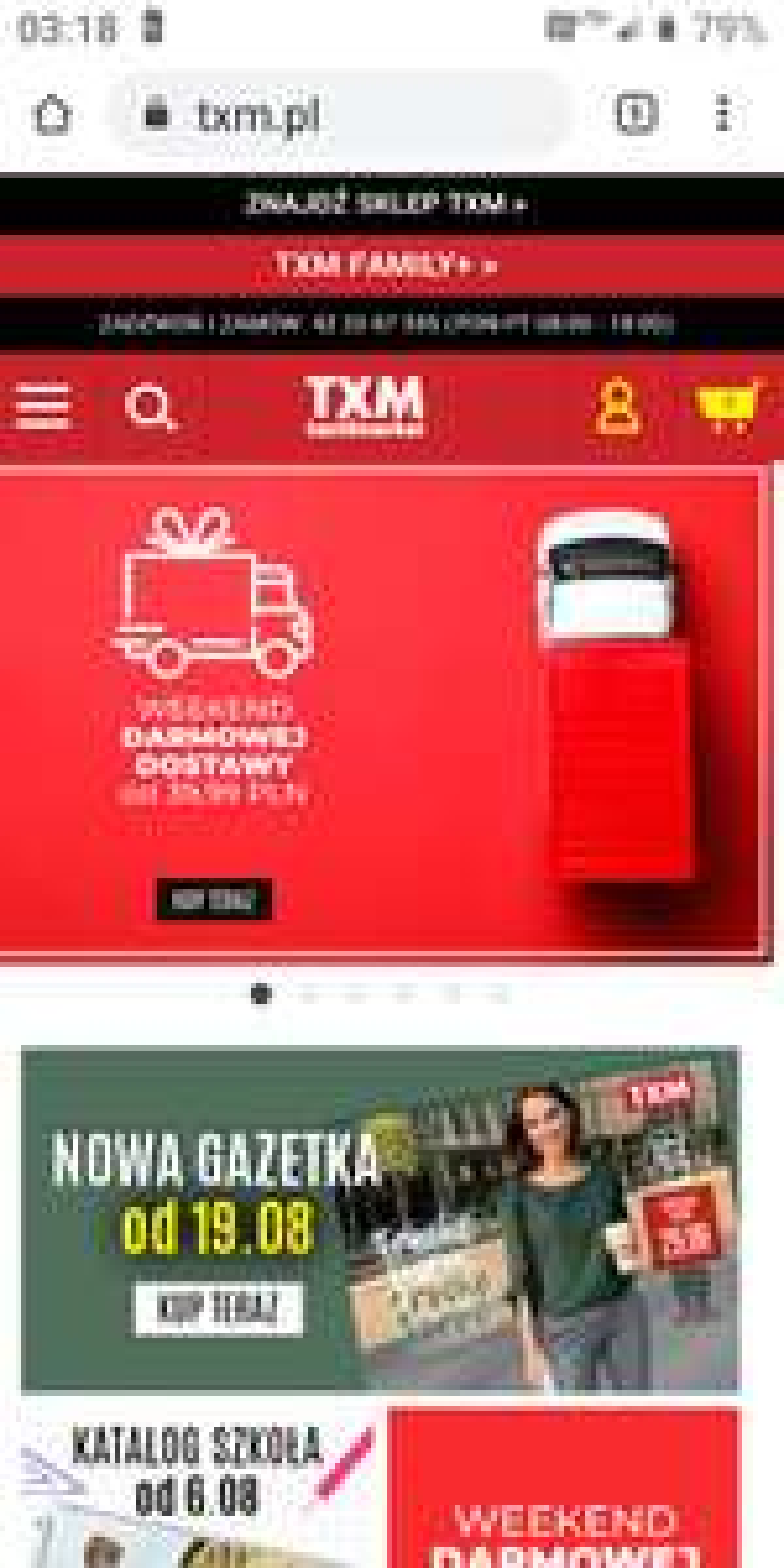 TXM-Weekend Darmowej Dostawy za zam. od 39,99 zł
