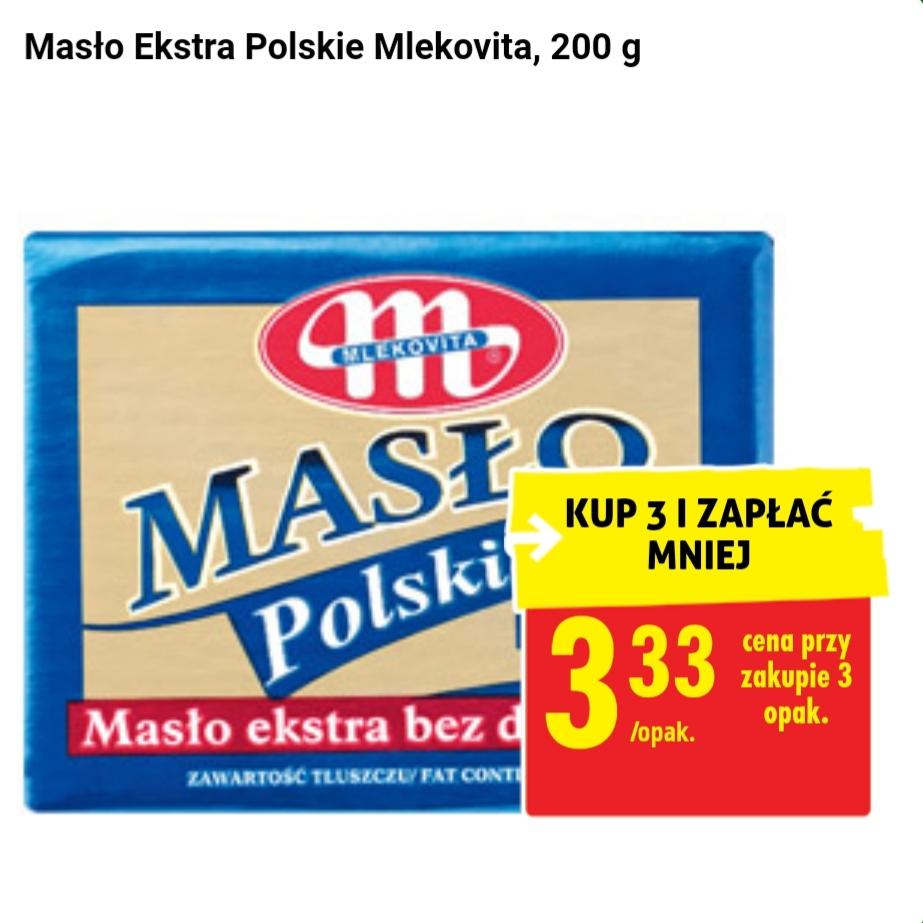 Biedronka. Masło Extra Polskie, Mlekovita, 200g