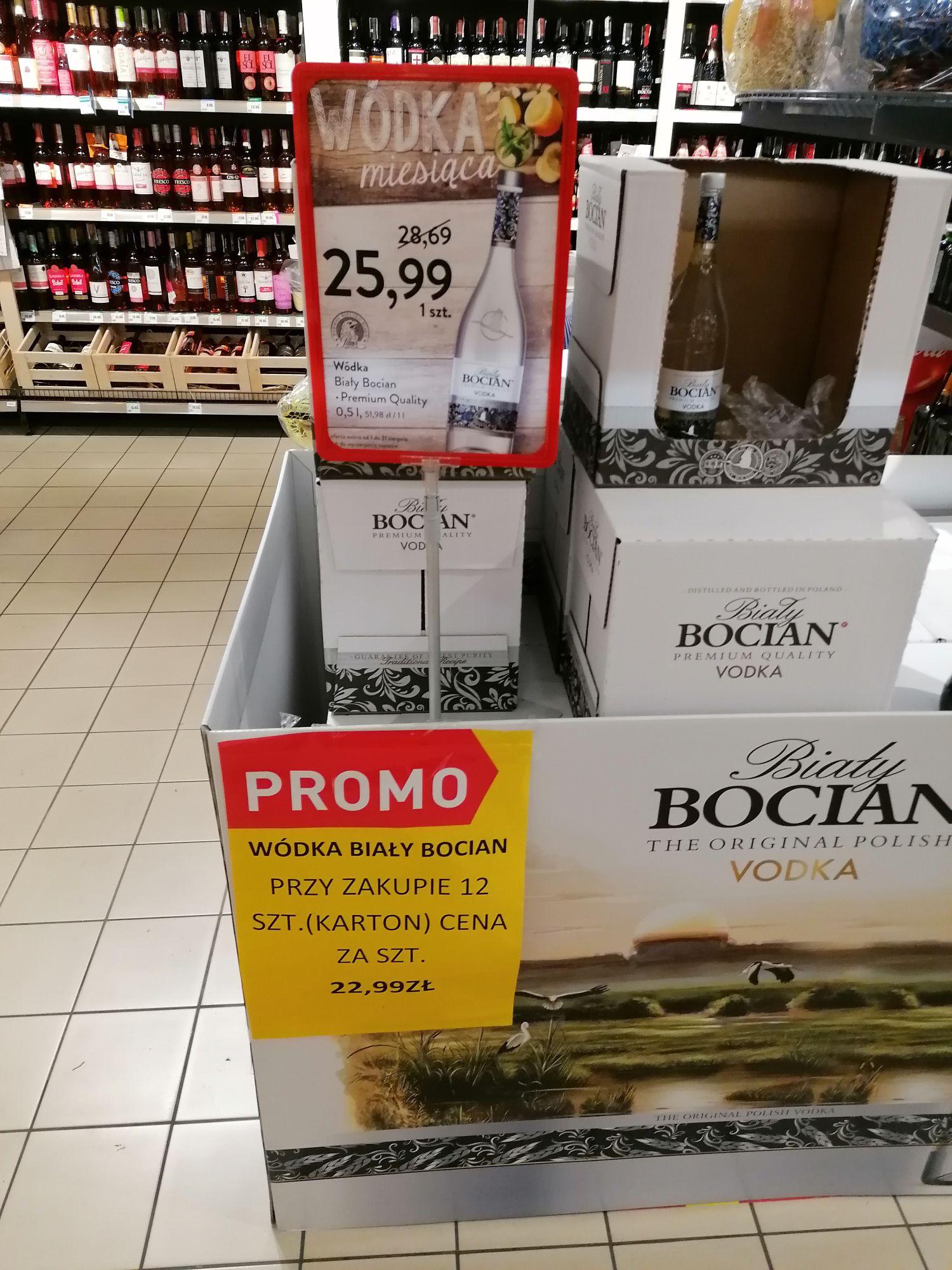 Intermarche Wódka Biały Bocian 0,5 l (przy zakupie 12szt.)