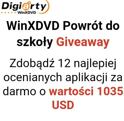 WinXDVD Giveaway.Zdobądź 12 aplikacji za darmo o wartości 1035 USD / Oprogramowanie