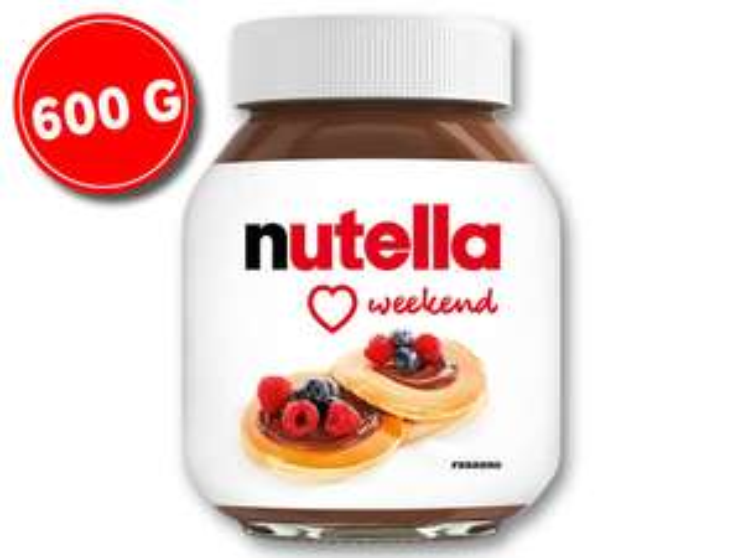 Nutella 600g promocja lidl
