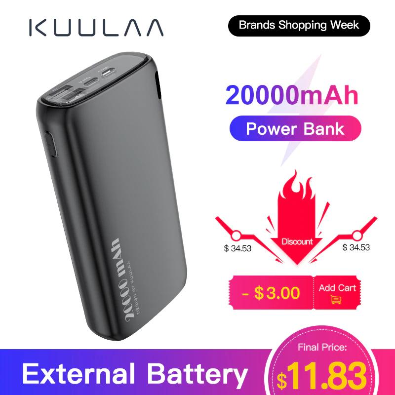 KUULA powerbank ! 20000 mAh 2.1, 2 wejscia/ 2 wyjscia