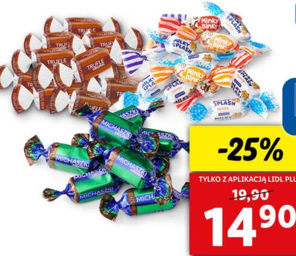 MIESZKO/ROSHEN Cukierki michaszki, trufle lub minky