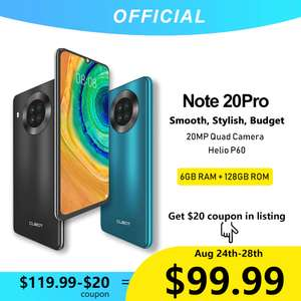 Cubot Note 20 PRO 6/128, NFC za 87.99$ (dostawa z Chin)