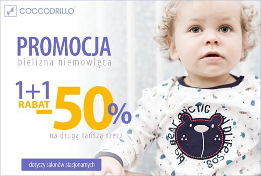 Bielizna niemowlęca- 2 rzecz -50% @ Coccodrillo