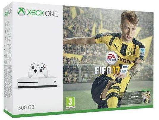 Konsola MICROSOFT Xbox One S 500GB + Fifa 17 + 1M EA Access QR3-00161