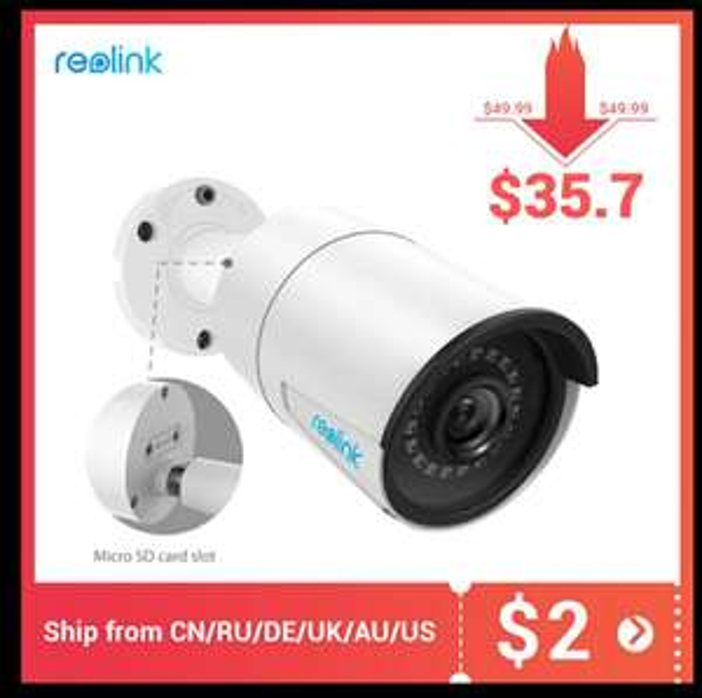 Kamera zewnętrzna Reolink RLC-410 5MP PoE tylko 35.7$