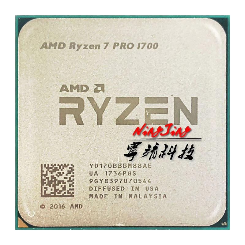 AMD Ryzen 7 PRO 1700 81,76$ 8/16 CPU Processor 65W Socket AM4 UŻYWANY