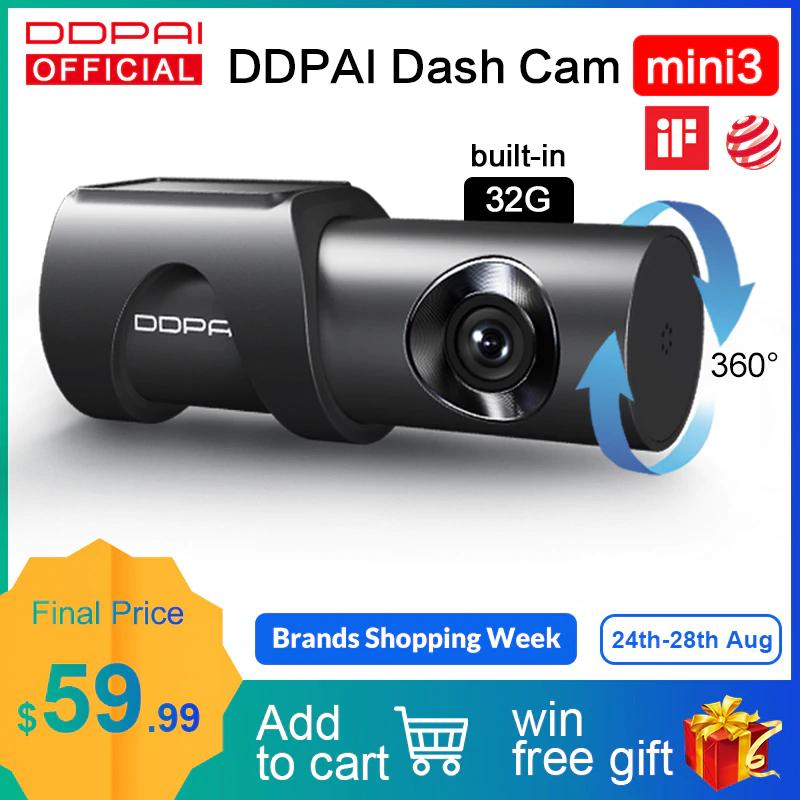 Kamera samochodowa DDPai Mini3 1600P