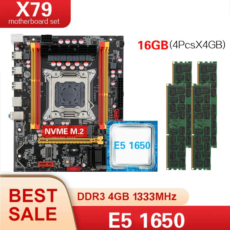 ZESTAE Kllisre X79 LGA2011c+E5 1650 +4*4GB = 16GB pamięci DDR3 1333Mhz ECC