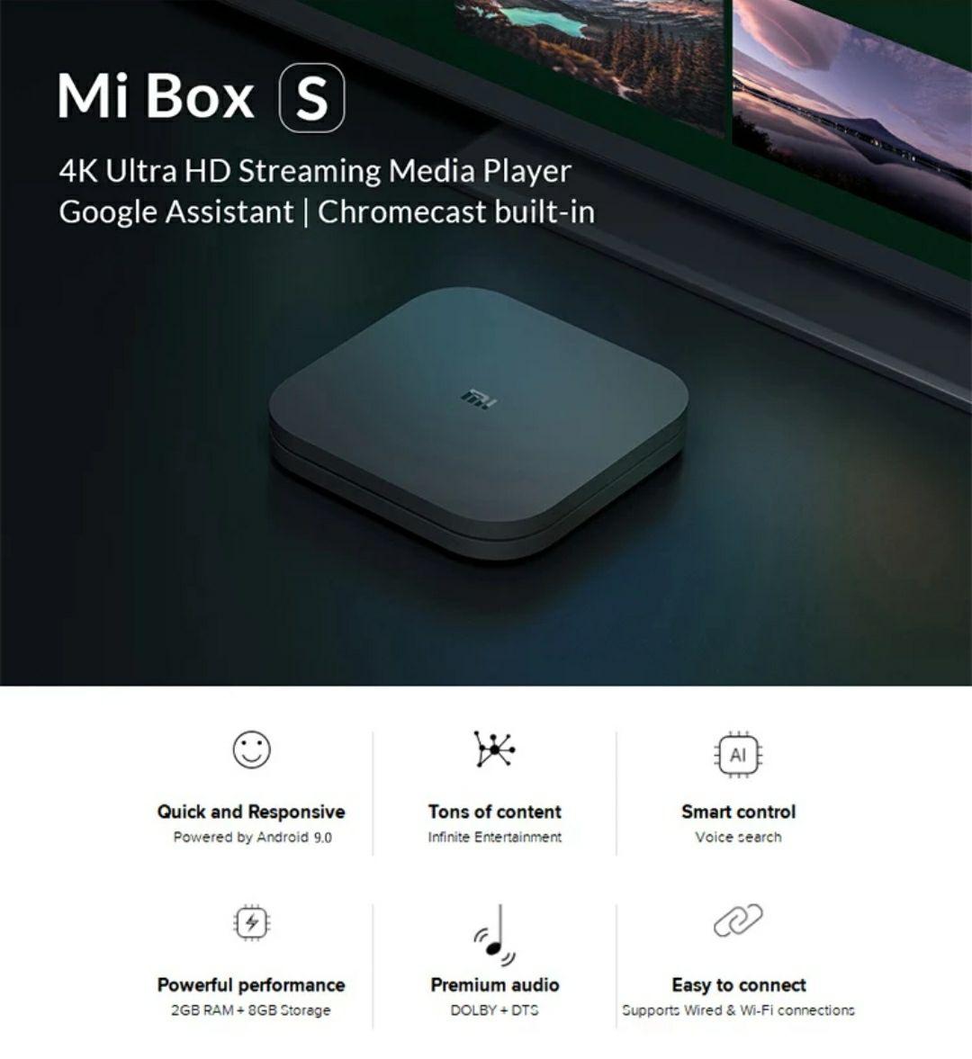 Xiaomi Mi TV Box S 4K z wysyłką z Polski @Aliexpress