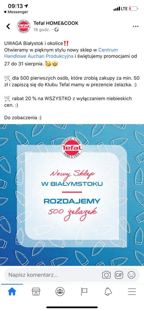 500 żelazek za darmo przy zakupach za min. 50zł (Białystok)