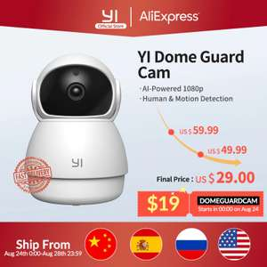 Kamerka kopułkowa YI Dome Guard Camera @AliExpress