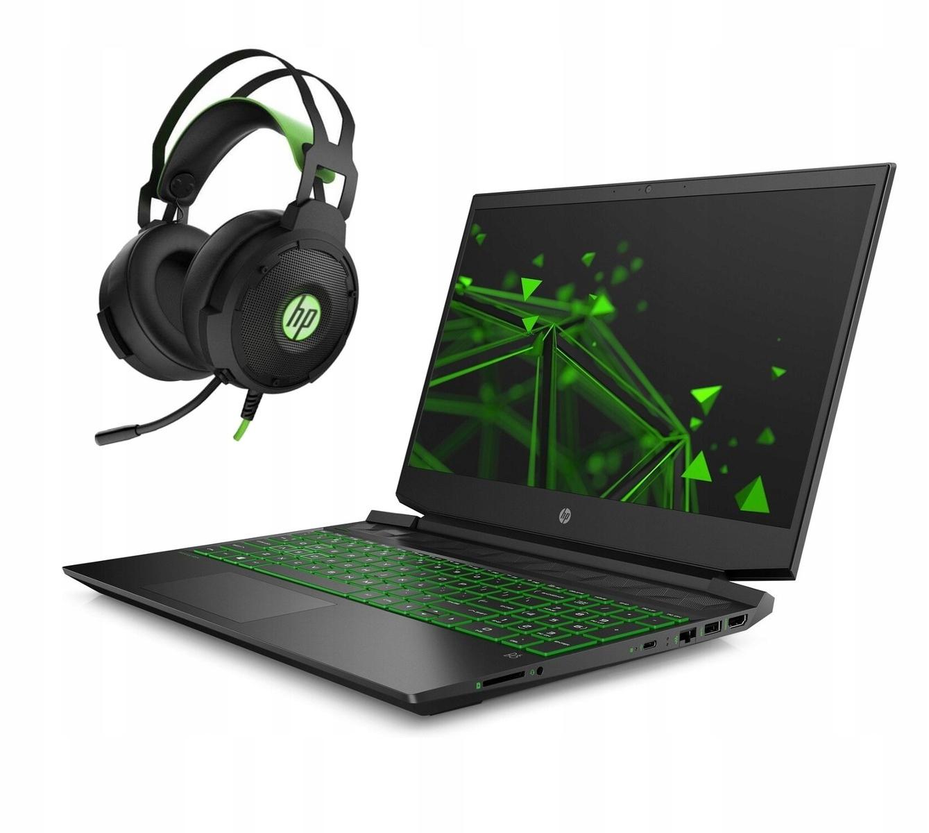 Gamingowy lapek HP 15-ec0010nw R7-3750H 512/8G/15,6 8BQ91EA, słuchawy HP gratis