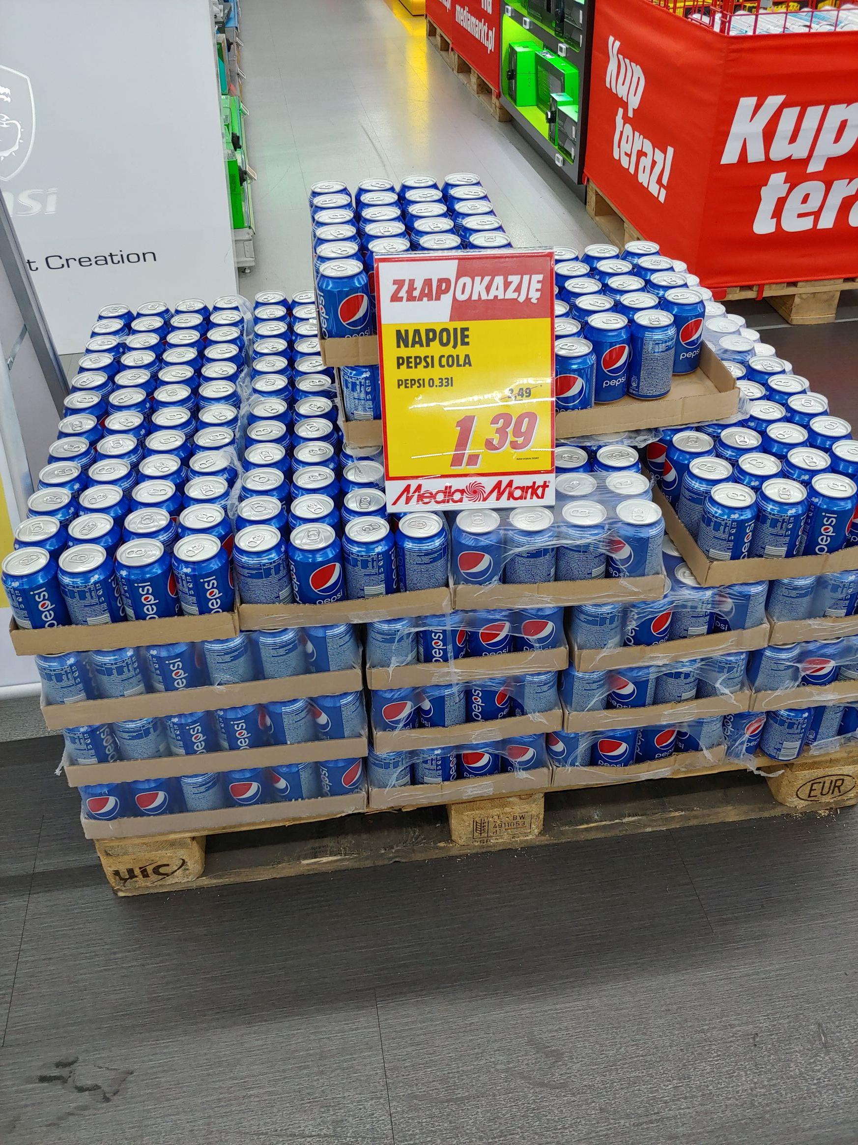 Pepsi 0.33l MediaMarkt Silesia City Center Katowice