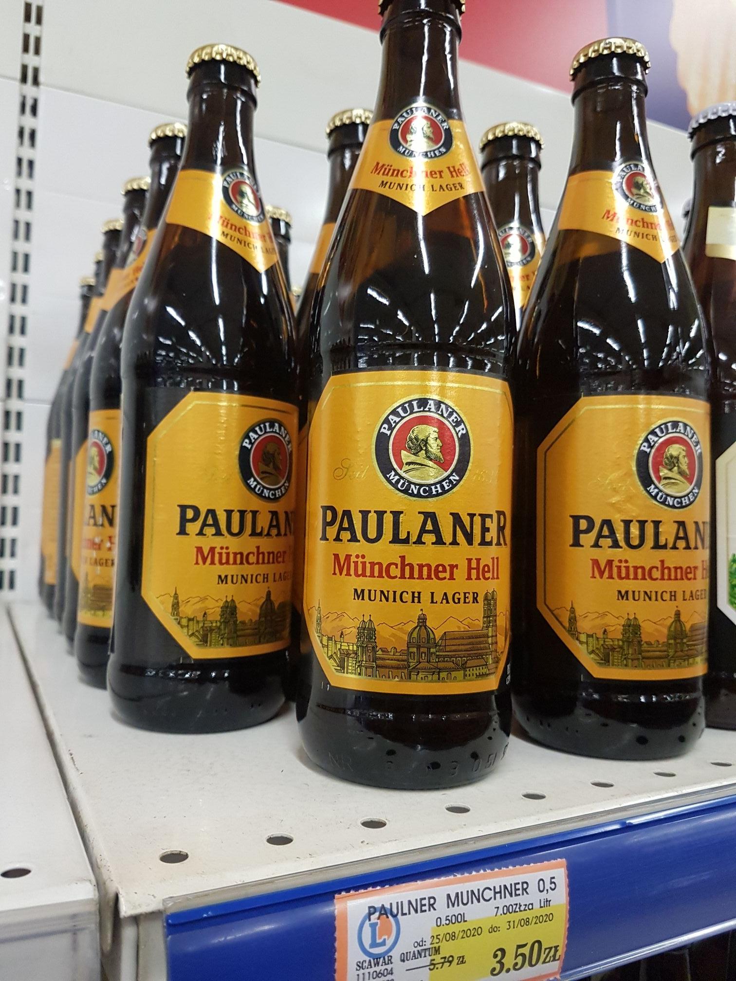 Piwo Paulaner Munchner Hell Munich Lager @Leclerc Lublin