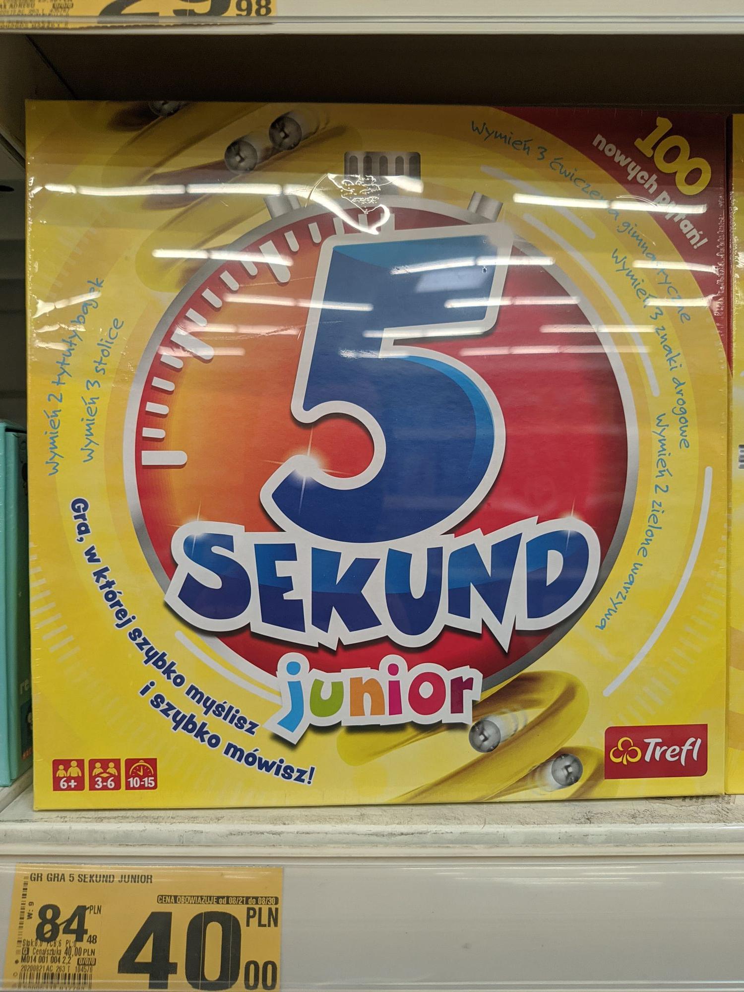 Auchan Gdańsk ul. Kołobrzeska gry planszowe dla najmłodszych: 5 sekund junior (40 zł) ,Dobble kids(30zł), Dragon snacks(55zł)