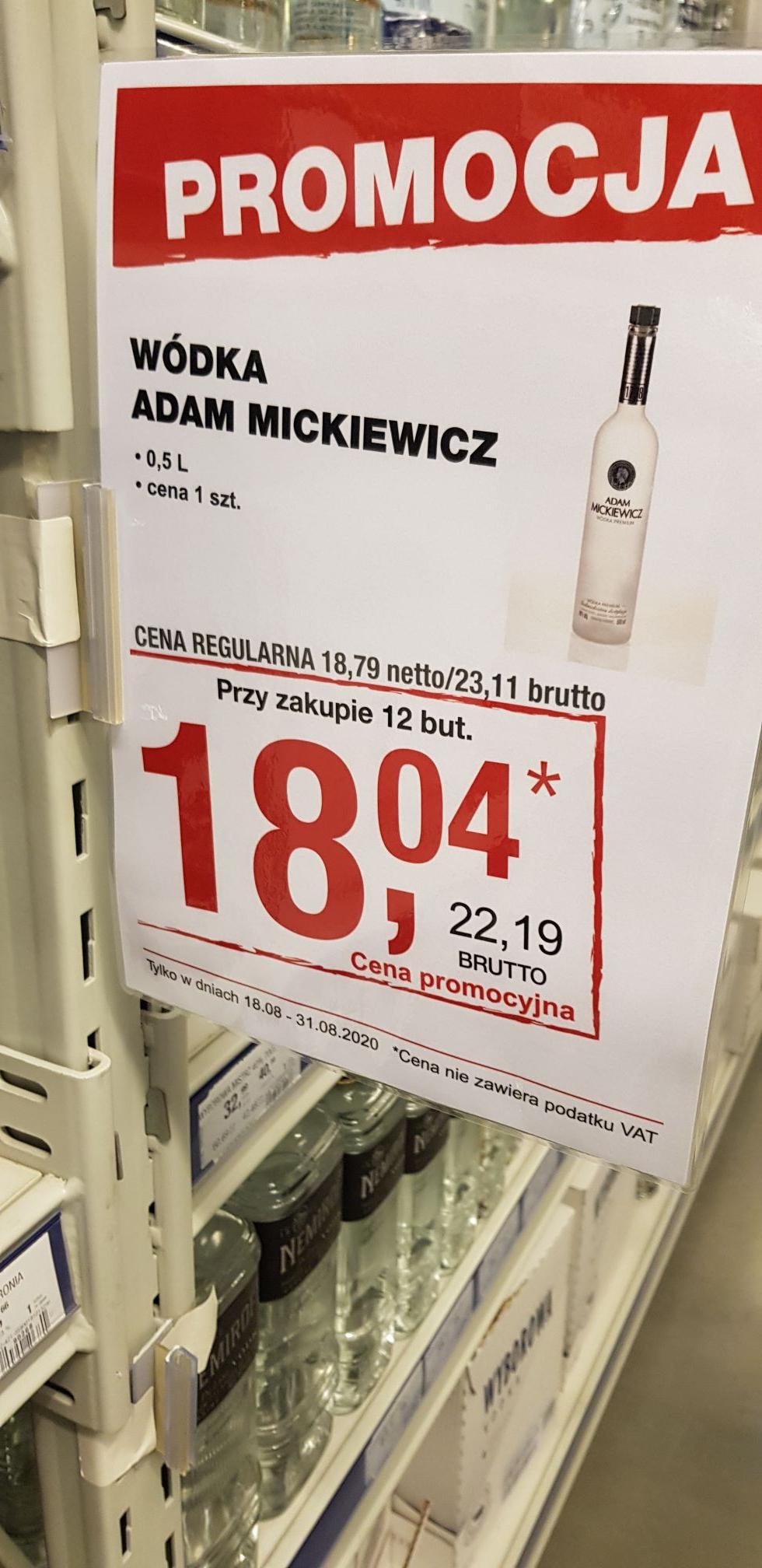 Makro (Warszawa)Wódka Adam Mickiewicz, przy 12szt