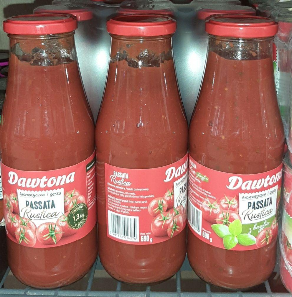 Passata Rustica pomidory Dawtona LIDL