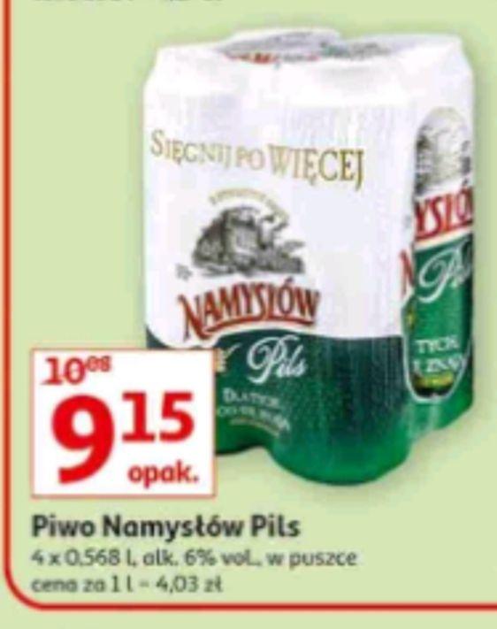 Piwo Namysłów Pils 4x568 ml, 2,02zł za 0,5L, w Auchan od 27.sierpnia