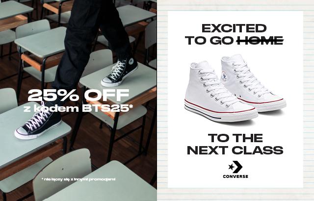 Promocja Converse z okazji powrotu do szkoły -25%