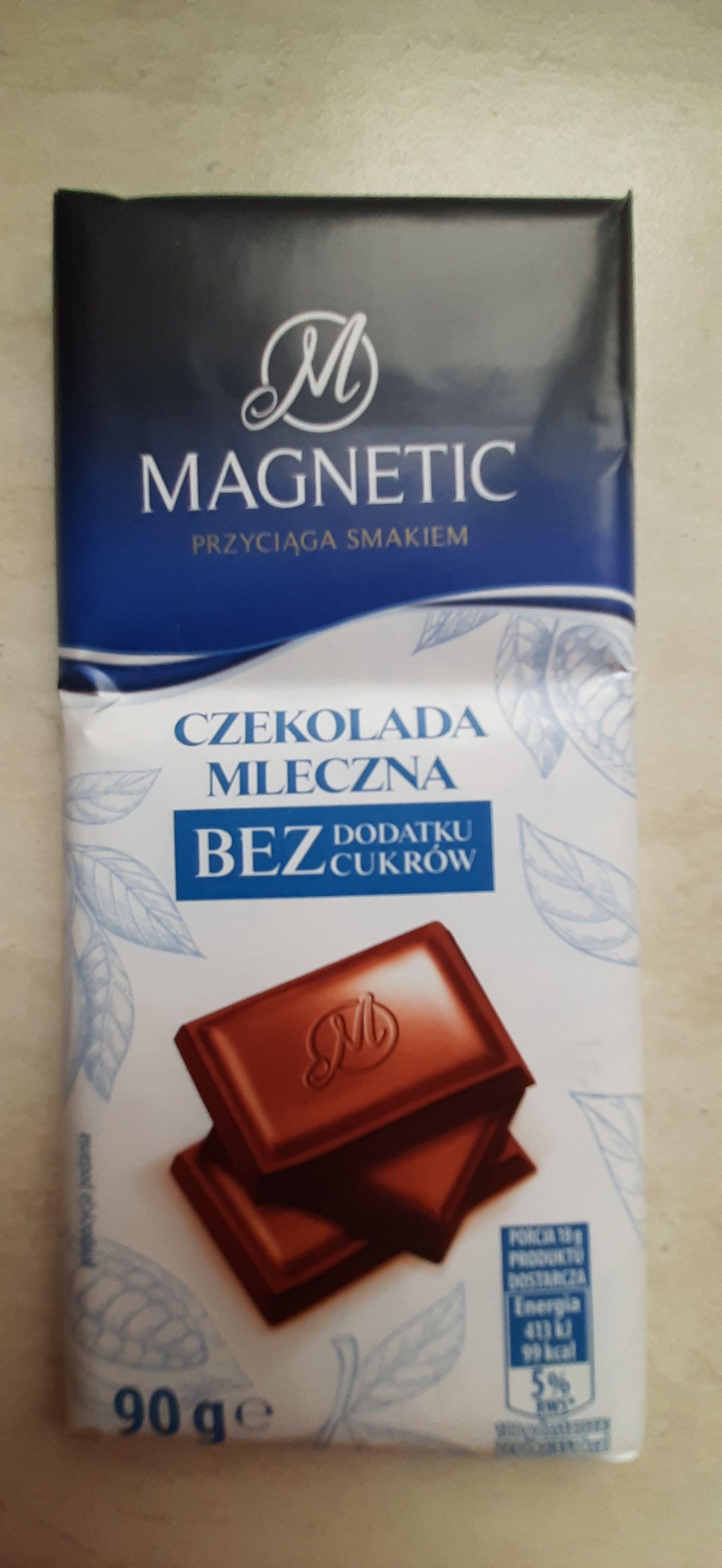 Magnetic, Czekolada Mleczna/Gorzka bez dodatku cukrów, Biedronka