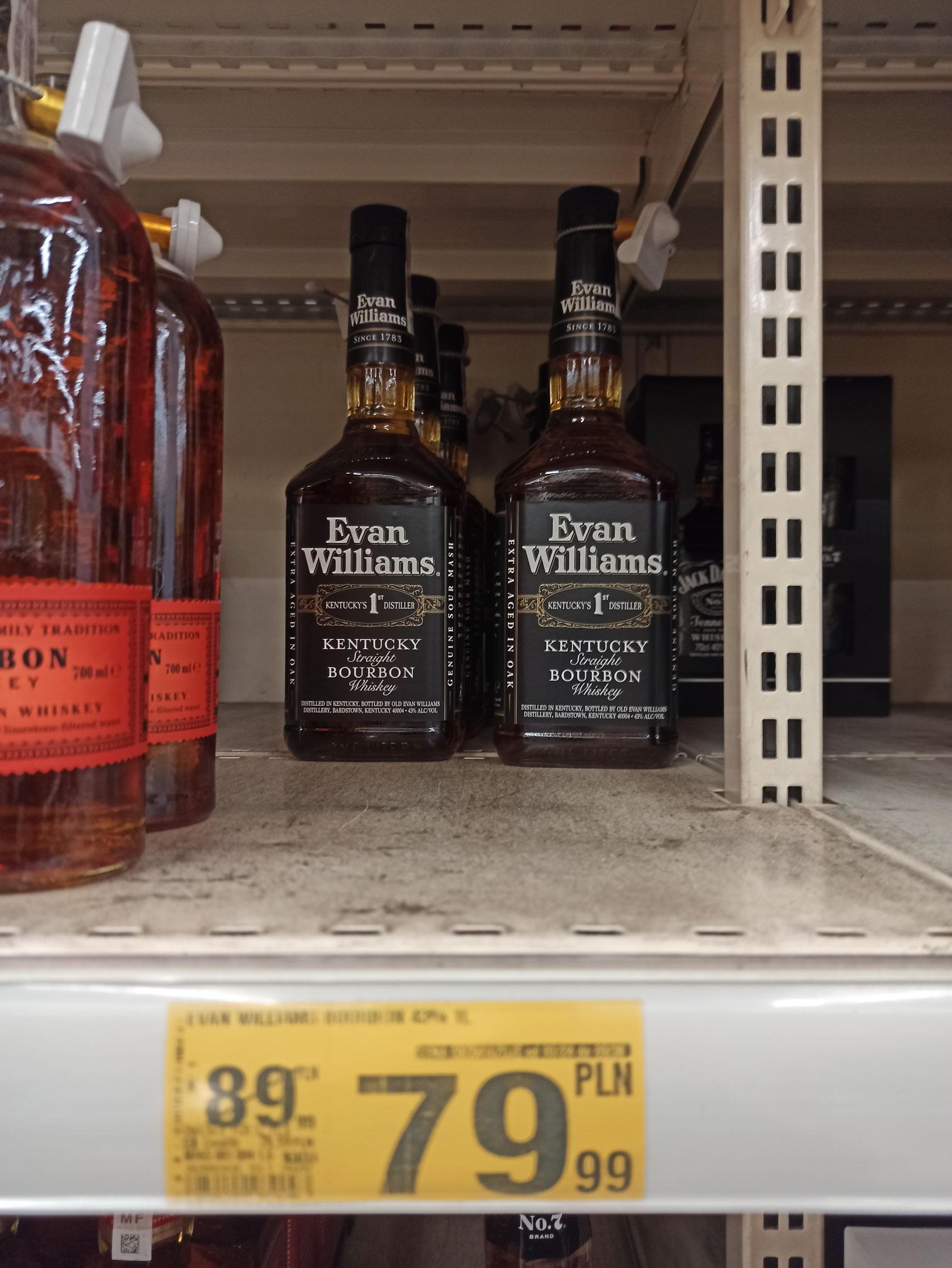 Whisky bourbon Evan Williams 1l auchan wola park