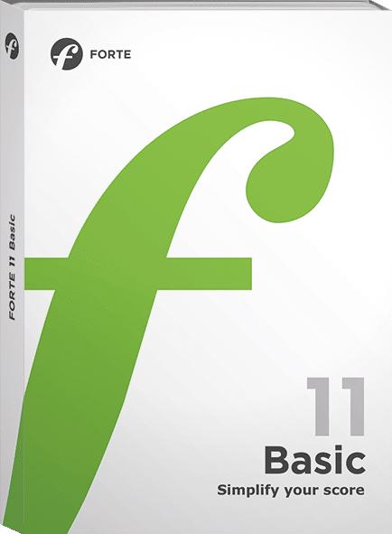 Forte11 Basic do tworzenia muzyki za pomocą nut
