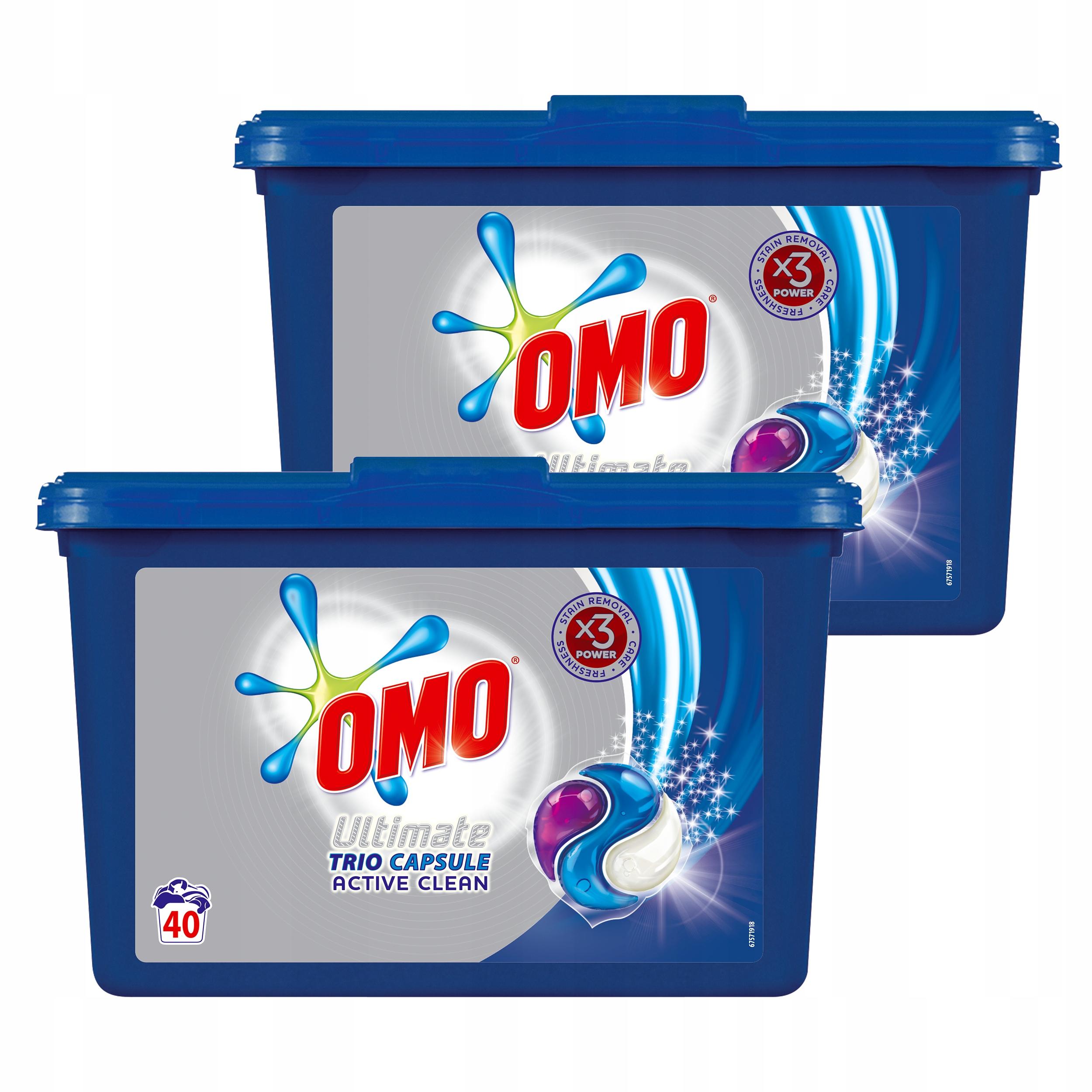 OMO Active Clean Trio kapsułki do prania 80 SZT