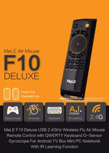 MeLE F10 Deluxe 2.4GHz Portable Wireless Air Mouse Keyboard