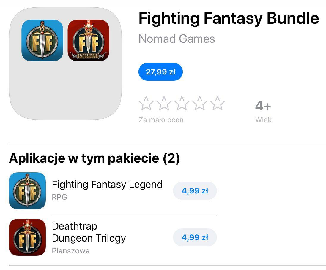 Fighting Fantasy - dwie gry RPG na IOS