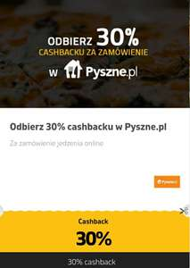 Pyszne.pl @planetplus.pl cashback