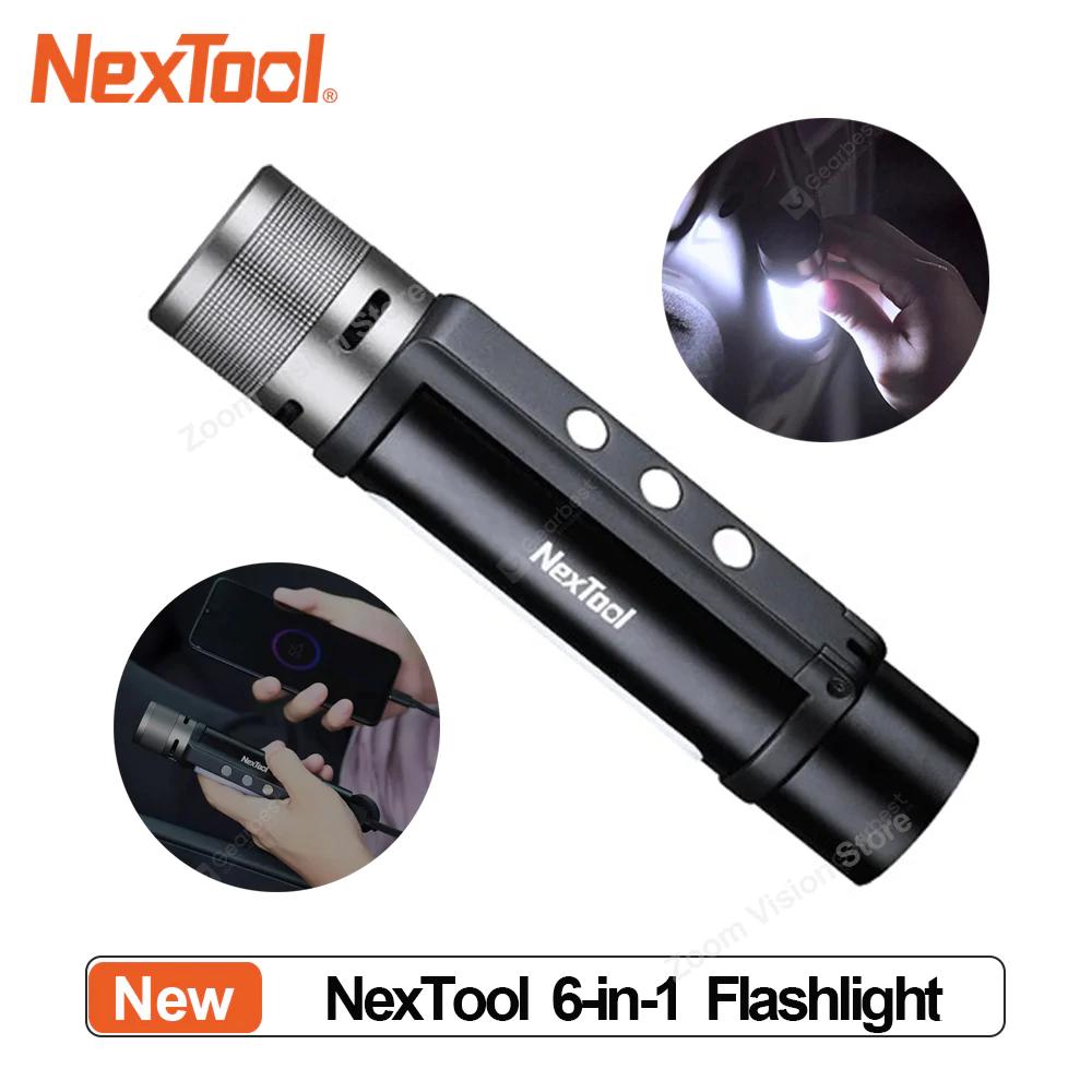 Latarka NexTool 6w1 (akumulator, alarm, wodoszczelna, 1000 lm) @Gearbest