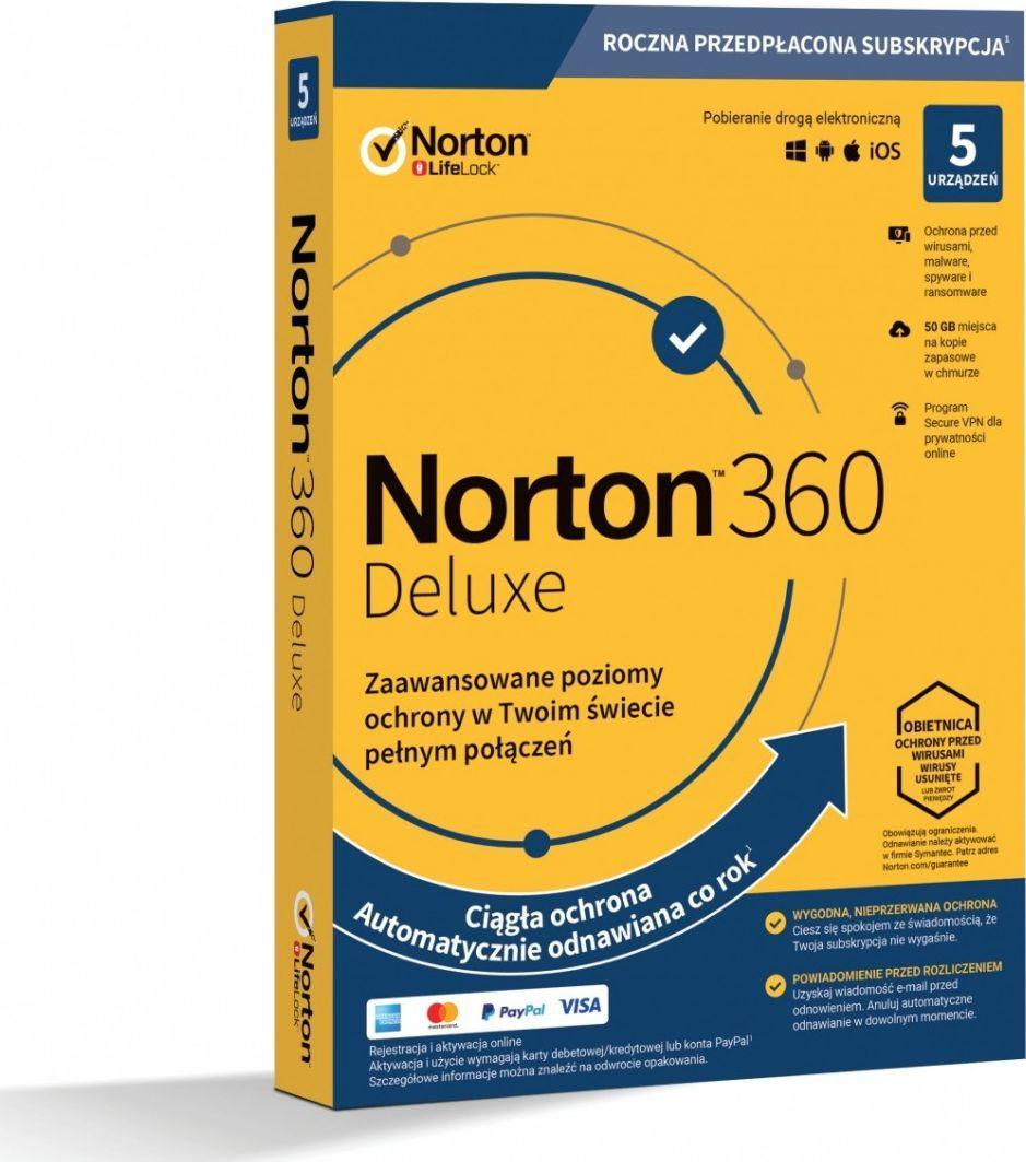 NORTON 360 DELUXE 1 USER 5 DEVICE + 50 GB + VPN