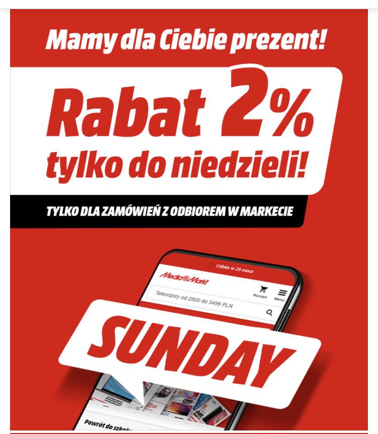 2% rabatu do niedzieli w mediamarkt.pl
