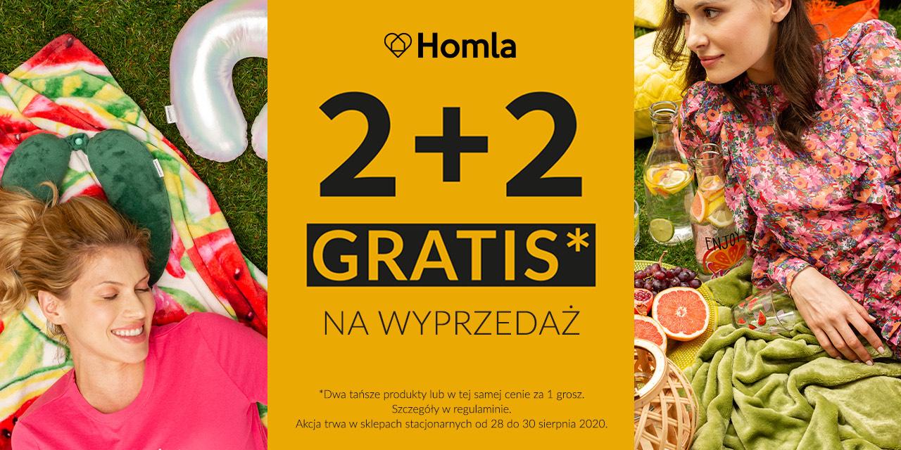 2+2 na produkty z wyprzedaży HOMLA