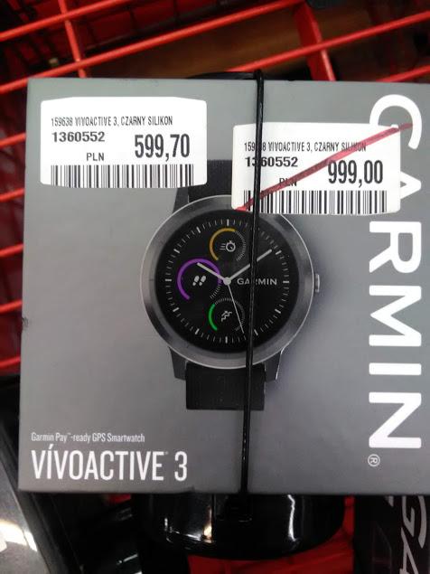 Garmin Vivoactive 3 czarny silikon