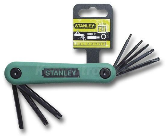 Zestaw 8 kluczy Torx Stanley 4-69-263, o/os 0zł