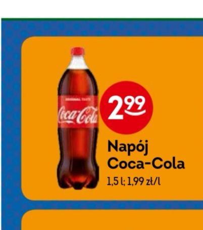 Coca Cola 1,5 l w Żabce w dobrej cenie