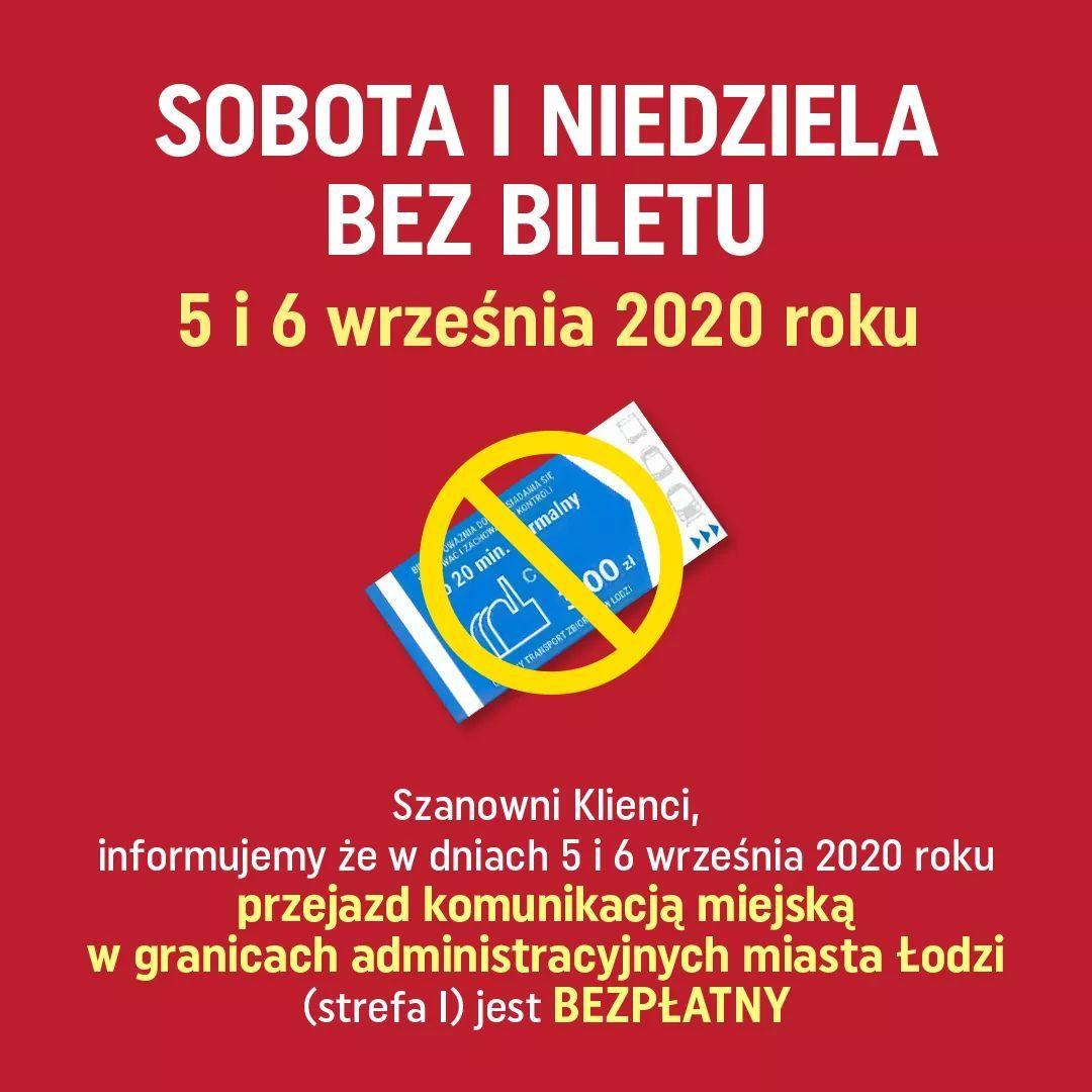 5/6 września MPK Łódź za darmo