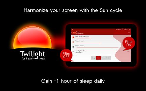 Android: Twilight Pro Unlock (program do filtrowania niebieskiego koloru z ekranów smartphonów / tabletów / itd)